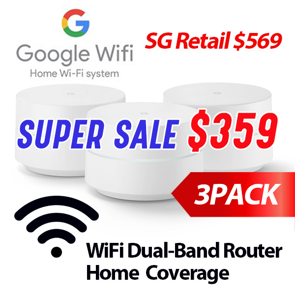 [HOT DEAL] 3-PACK Google WIFI Dual-Band Wi-Fi Router (3-PACK) whole home  coverage