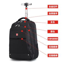Buck Swiss Trolley Case 18-inch backpack male trolley bag high school bag box