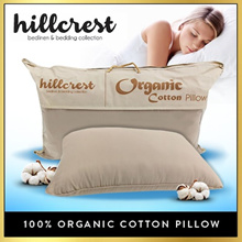 Hillcrest 100% Cotton Pillow Bolster High Firm Pillow 48cm x 74cm | bedsheet quilt protector sofa