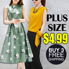 Clearance Sale $4.99 / Buy 3 Free Shipping  / New 2018! Limited Time Special / 2018 New Plus Size!!!