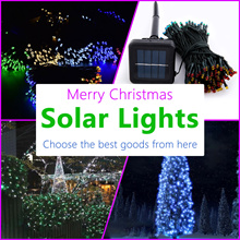 [Solar Fairy light] Christmas Tree Decoration 12M/22M LED Strip Fairy Light Xmas Outdoor / Indoor