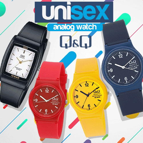 QQ Analog Jam Tangan Unisex Original Deals for only Rp115.000 instead of Rp115.000