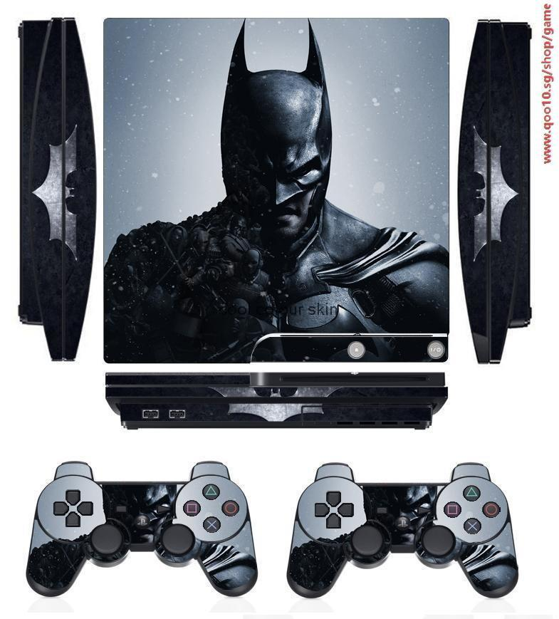 Hero 252 Vinyl Skin Sticker Protector for Sony PS3 Slim PlayStation 3 Slim  and 2 controller skins St