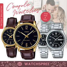 *VDAY SPECIAL* CASIO Couple Watch Sets Leather and Stainless Steel Watches. 1 Year Warranty.