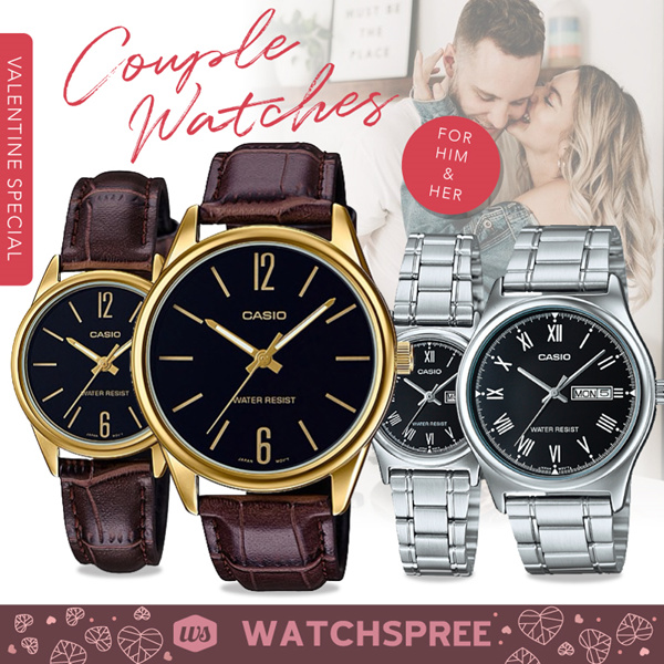 *VDAY SPECIAL* CASIO Couple Watch Sets Leather and Stainless Steel Watches. 1 Year Warranty. Deals for only S$199 instead of S$199