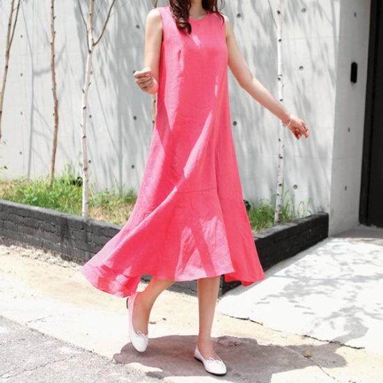ガールズデイリーガールズデイリーピンク色の香りops 塔/袖なしのワンピース/ 韓国ファッション