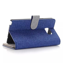 Linen Flip Case with Card Holder For Samsung Galaxy Note 5/iPhone 6S/iPhone 6S Plus   17809