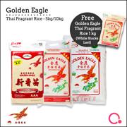 [Chip Seng Impex] FREE 1KG! Golden Eagle - 5KG/10KG THAI FRAGRANT RICE!| QUALITY RICE!