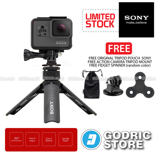 SONY SPA-MK20M Mini Tripod Smartphone Action Camera GoPro Brica Xiaomi Yi Free Spinner and Mount Deals for only Rp105.000 instead of Rp105.000