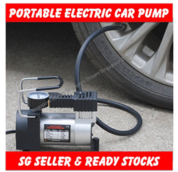 Heavy Duty Portable 12V 100PSI Tyre Air Pump / Tyres Compressor / Emergency Tires Inflator /
