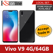 Vivo V9 4G/64GB + Free Screen Protector and Cover (2 years Local Manufacturer Warranty)