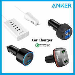 Anker PowerDrive 5 Port Quick Charge 3.0 Car Charger 2 Port USB Charger 100% Authentic Fast Delivery