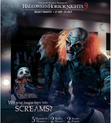 【 Halloween Horror Nights 】HHN9 - Universal Studios Singapore (USS) Halloween Horror Nights 9