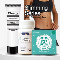 Fleecy Slimming Gel Original - Gel pelangsing /Fleecy Slimming Capsule Halal BPOM/ EVERSLIM Slim Tea