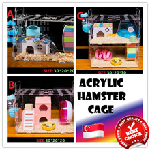 💖FAST DELIVERY💖SINGAPORE SELLER💖ACRYLIC HAMSTER CAGE