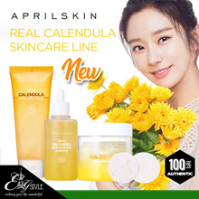 [APRIL SKIN] Real Calendula Skincare line /Peel off Pack / Deep Moisture Essence / Peeling Pad