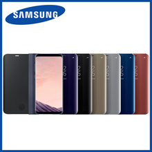 Samsung Galaxy S8 / S8+ GenuineClear View Standing Cover EF-ZG950C / EF-ZG955C for SM-G950 / SM-G955