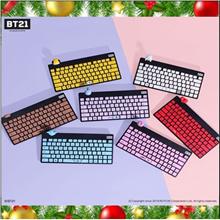 [UniverStar BT21] Limited Edition / Wireless Silent Cute Figure PC Computer Keyboard (English/Korea)
