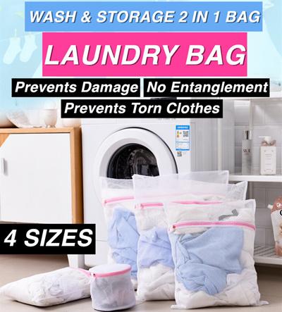 XXL Fine Mesh Laundry Washing Machine Bag Large Net Drawstring Wash Sack