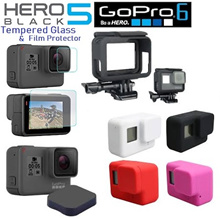 GoPro Hero 5 / Hero 6 Black Glass Protector/Film Screen Protector/Cover/Casing/Lens Cap