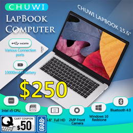 CHUWI LapBook Computer 15.6 Inch 1920x1080 Windows 10 Intel Cherry Trail-T3 Z8350 Quad-core 4GB+64GB