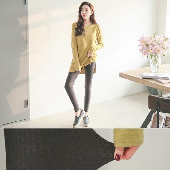 ワッフルボタンロングワンピース 無地ワンピース/ワンピース/韓国ファッション
