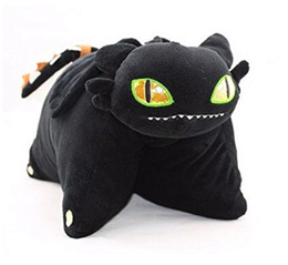 (DreamWorks How to Train Your Dragon) Generic How to Train Your Dragon Toothless Night Fury Pillo...