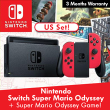 Nintendo Switch Super Mario Odyssey +  Super Mario Odyssey Game Card w/ 3 Months Warranty [US SET!]