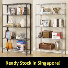 Metal Racks Steel Storage Book Shelf Organizer Organiser Heavy Duty rack. 90x35x180cm
