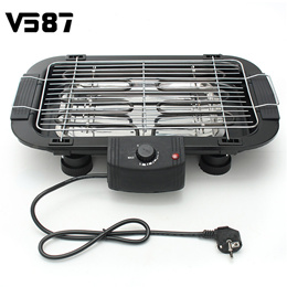Electric Smokeless Nonstick BBQ Grill Teppanyaki Barbeque Griddle Height Adjustable Barbecue Utensil