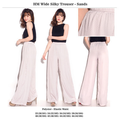 HM Wide Silky Trouser Sands