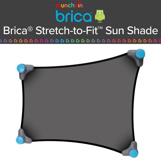 Munchkin BRICA Stretch-to-Fit Sun Shade Grey Black