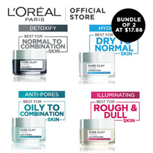 LOreal Paris Pure Clay Mask 50ml (Illuminating / Detoxify / Anti-Pores)