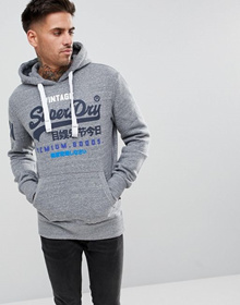 Superdry Premium Goods Tri Hoodie in Gray