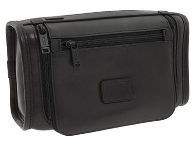 qoo10 tumi alpha leather travel kit bag wallet. Black Bedroom Furniture Sets. Home Design Ideas