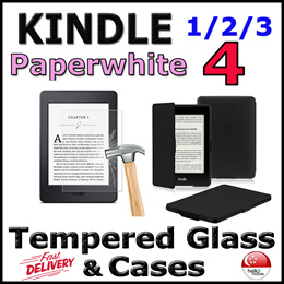 ✪Kindle Paperwhite [6.0 inch]✪ Cases▫ Tempered Glass Screen Protector - Local