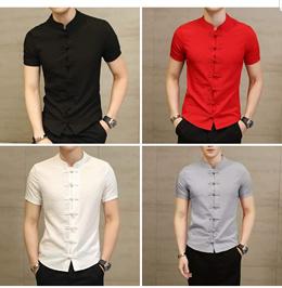 Cheongsam Top for Men CNY  Wedding DINER DND Chinese New Year Men Shirt Christmas