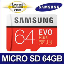 [1ST B!G DEAL $17.9!] SAMSUNG Micro SDXC 64GB EVO PLUS with SD Adapter / U3 Class10 ★Original SAMSUNG