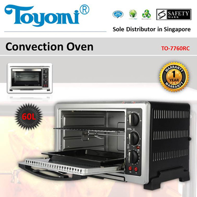 TOYOMI Convection Oven 60.0L [Model: TO-7760RC] - Official TOYOMI Warranty Set. 1 Year Warranty.