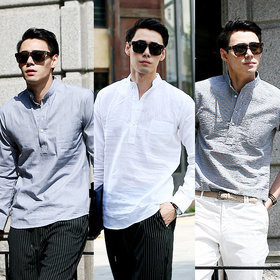 96e9ff97b3 J□2015 Summer New Arrivals□ Korean Man`s Casual Linen