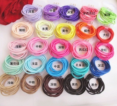 5X10X Multiple Quality Endless Snag Free Hair Tie Band Rope Elastic Rubber Band/girls/children/ladies hair bands/hair rope/elastic hair bands/hair clips Deals for only S$2 instead of S$0