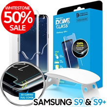[50%SALE]WhitestoneDome[GalaxyS9Plus] Tempered Screen Protector Superior Touch Sensiti