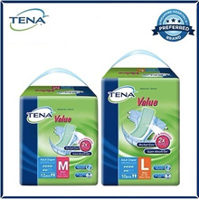 [Apply Q10 Coupon] TENA Tape Value M (8x12s)/Value L (8x10s) Adult Diapers