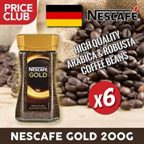 Nescafe Gold Germany 200 gm (6 BUNDLE DEAL) / Halus dan Kaya / Campuran biji Arabika dan Robusta