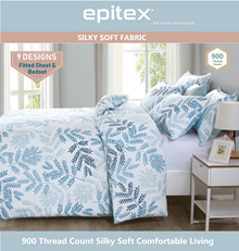 Epitex SilkySoft 900TC Printed Designs Fitted Sheet 9 DESIGNS AVAILABLE!