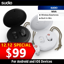 Sudio Niva Wireless Earphones (Black) and (White) - Local Seller. Ready Stocks.