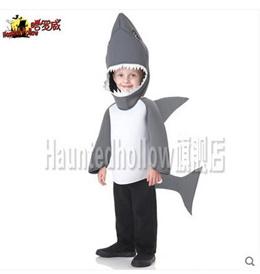 Haunted-hollow Harlow Halloween creative animal children show Shark costume
