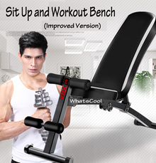 Sit Up Incline Decline Workout Bench Situp Dumbbell Bar Sit-Up Pull Yoga Sport