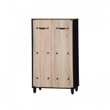Simple 2D Latte Shoes Cabinet Closed Hall Cabinet Dust-Proof Shoes Rack Storage Cabinet - 5059-2A (7