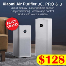【Official Store Xiaomi Mi Air Purifier  2S / Pro / 3 | OLED Screen Display